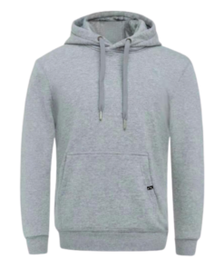 Grauer Hoodie ohne Logo Vorderseite - Be the reason